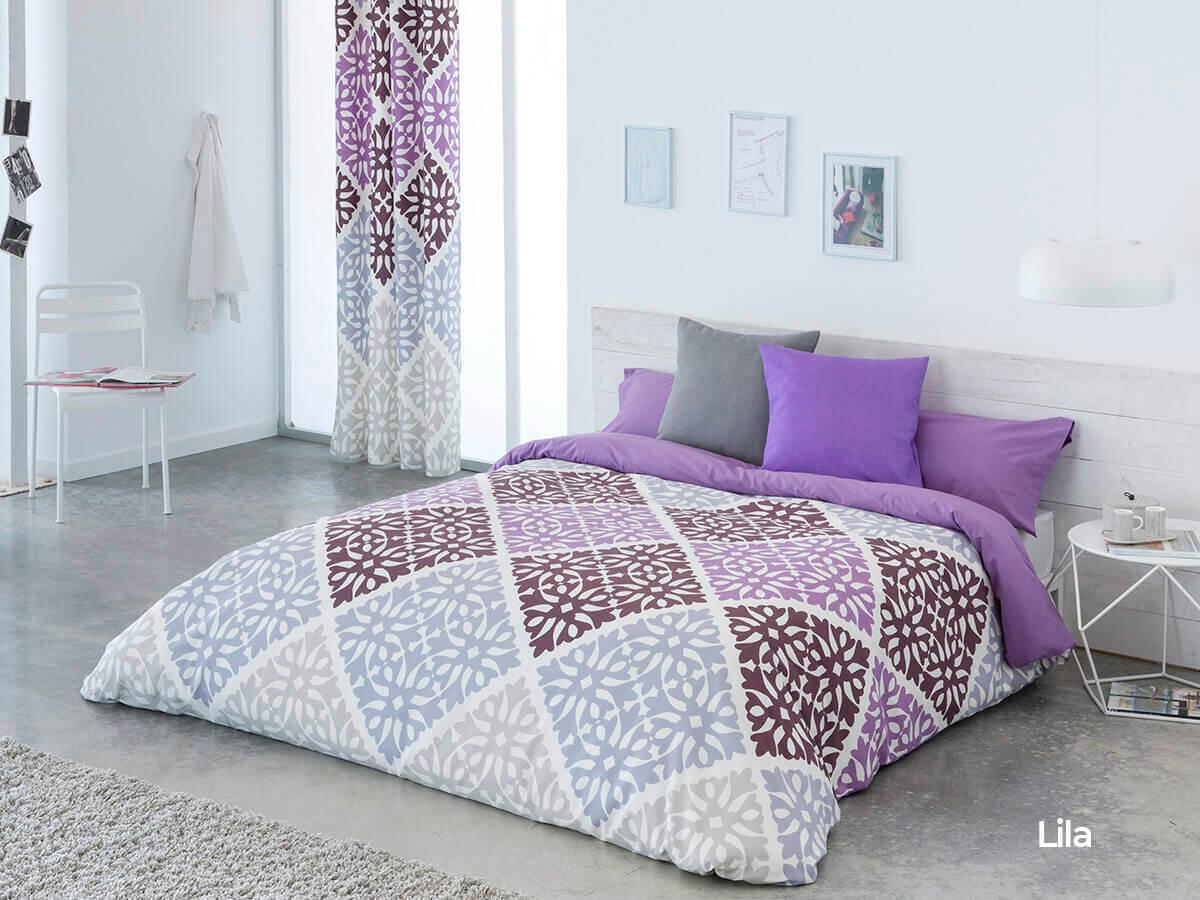 juego funda nordica Bolonia color lila