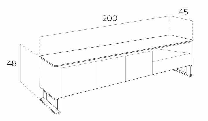 Medidas Mueble Tv 3047 Angel Cerda