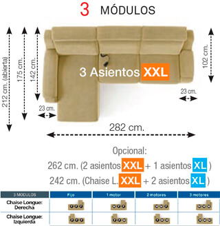 Modulo 3 Sofa montana o'luxen