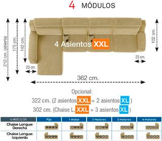 Modulo 4 Sofa montana o'luxen