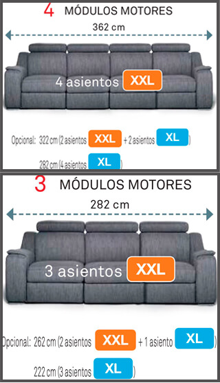 Moulo 3 y 4 Sofa montana