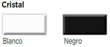 cristal blanco y negro