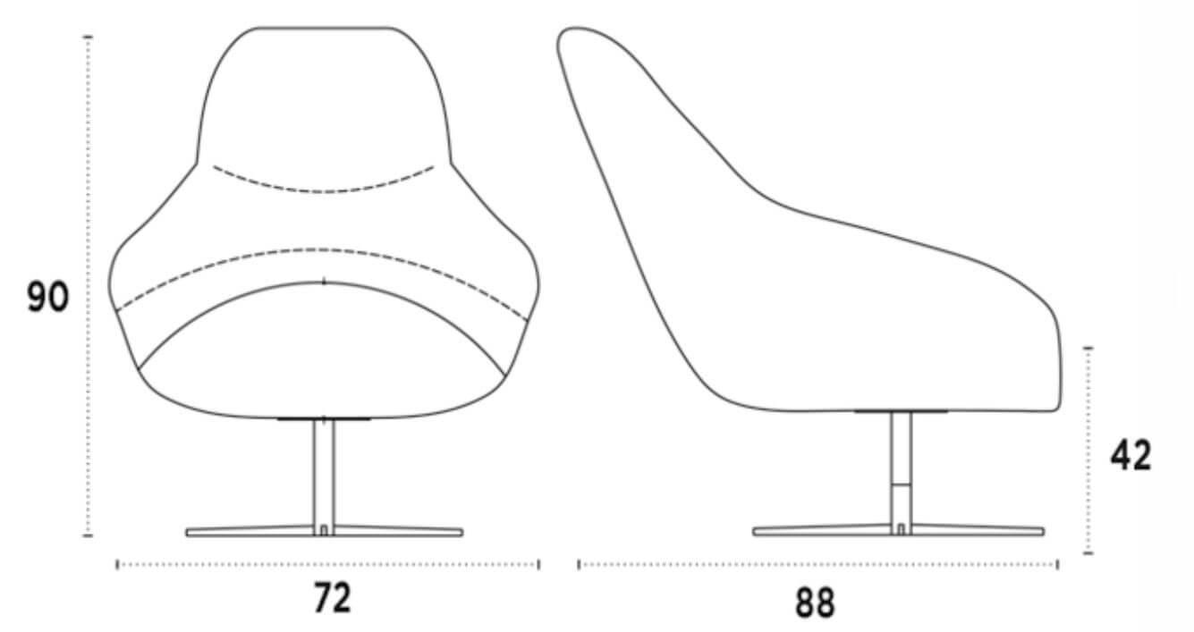 medida silla lounge margot