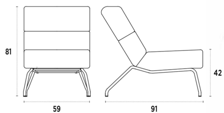 medidas silla lounge gala nacher