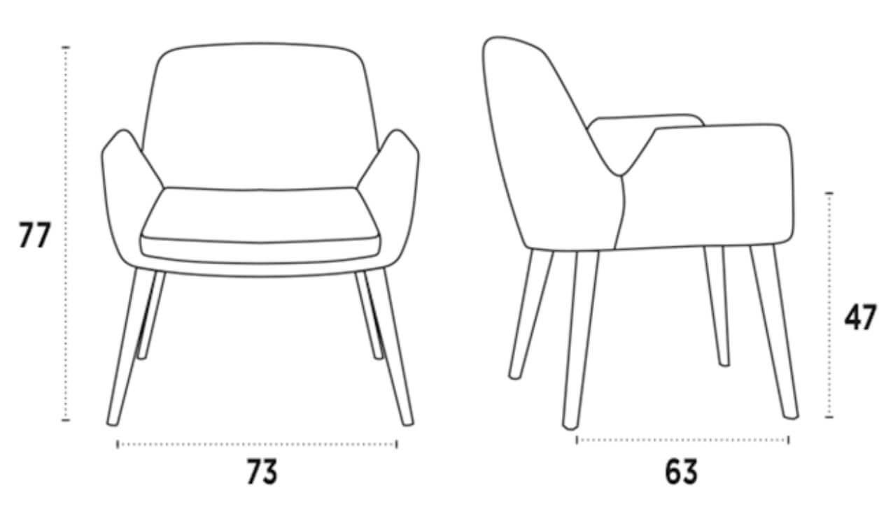 medidas silla lounge rose