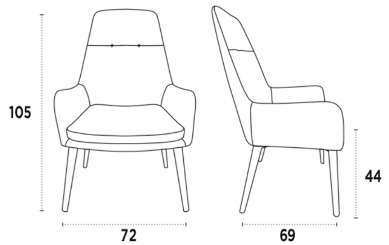 medidas silla lounge violet nacher