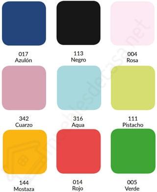 colores combi 144h algodon poliestes estelia