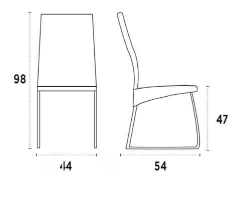 medidas silla quattro nacher